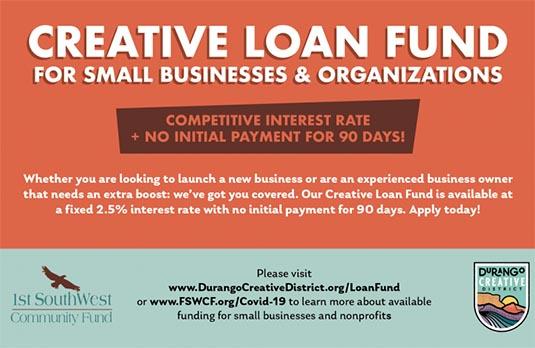 creative loan fund ad