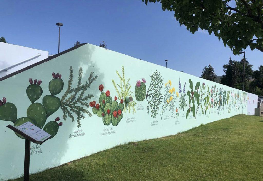plant mural
